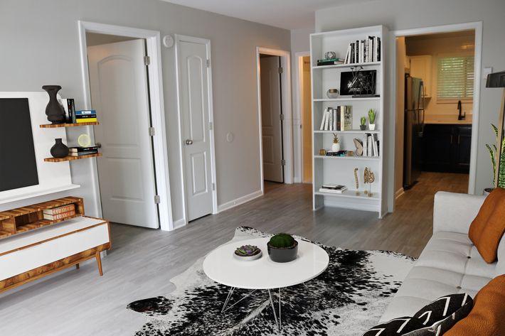 Vinyl Hardwood Floors in Living Areas at Alder Terrace