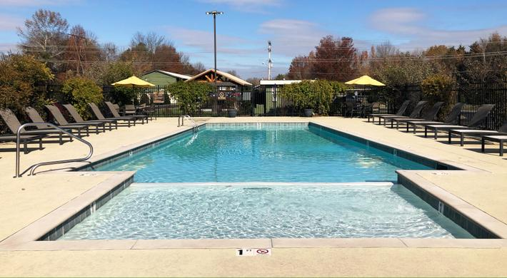 A Shimmering Salt Water Swimming Pool at Alder Terrace in Murfreesboro, Tennessee