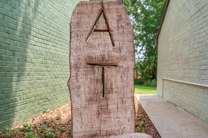 Alder Terrace Initials A T Carved in Wooden Sign