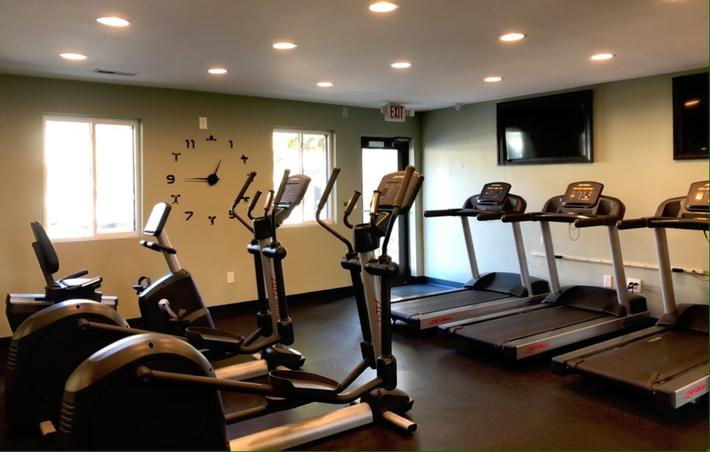 Row of Treadmills and Exercise Equipment at Alder Terrace