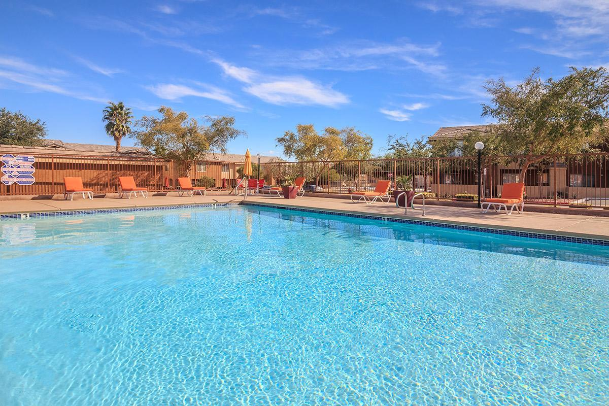 RELAX BESIDE OUR SPARKLING SWIMMING POOL AT SIENA TOWNHOMES IN LAS VEGAS, NEVADA