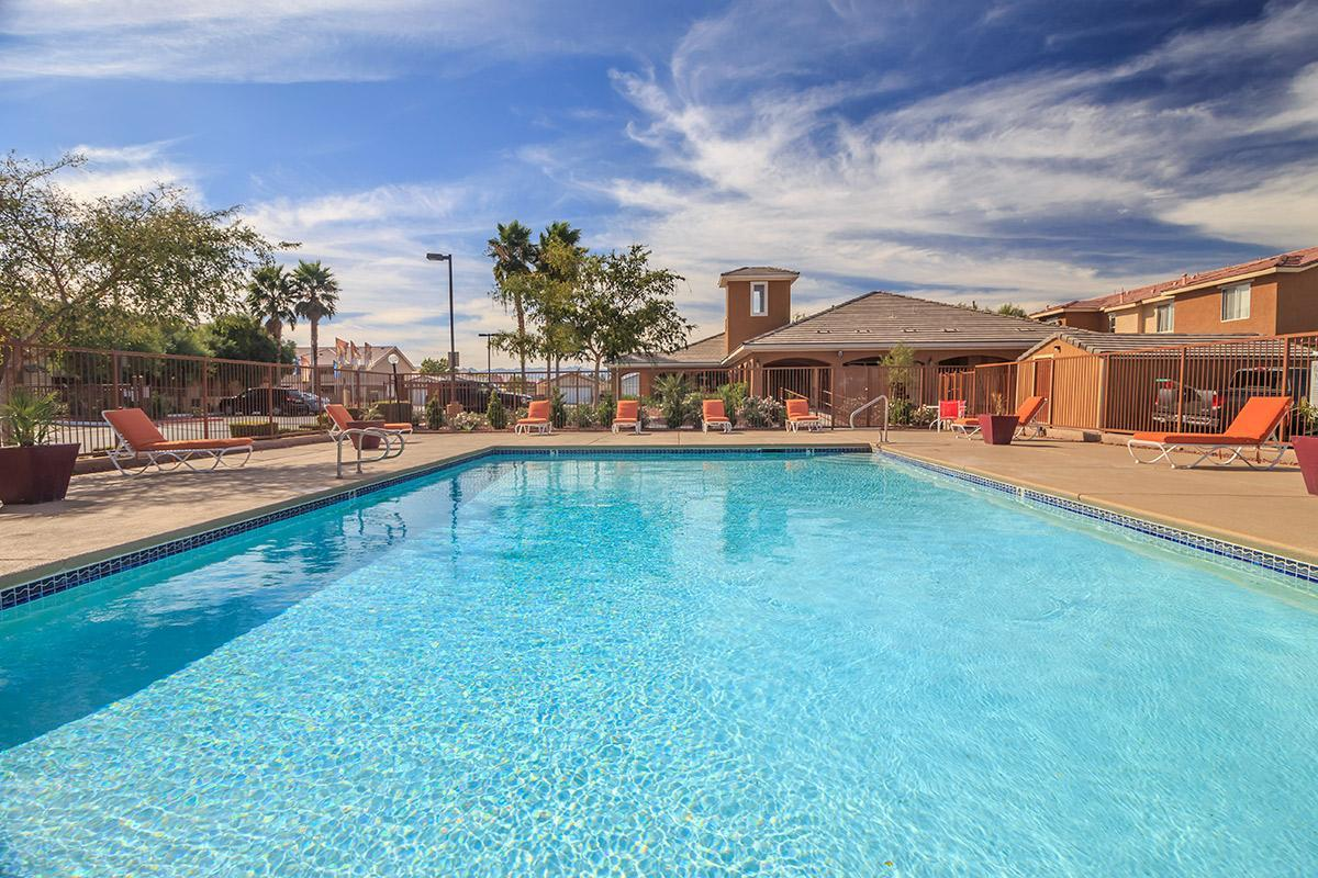 SHIMMERING SWIMMING POOL AT SIENA TOWNHOMES IN LAS VEGAS, NEVADA