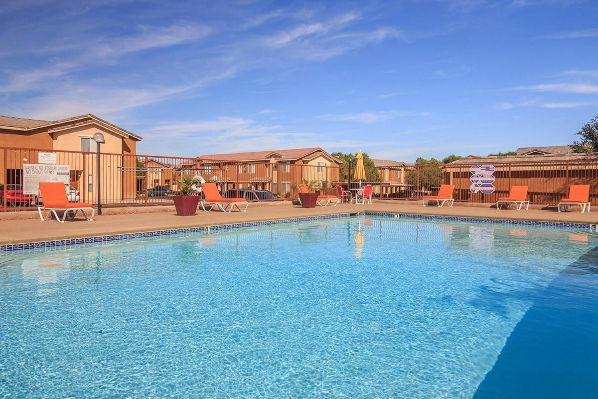 SIENA TOWNHOMES IN LAS VEGAS, NEVADA PROVIDES A SHIMMERING SWIMMING POOL