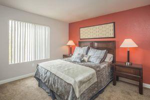 Elegant Bedroom at Siena Townhomes in Las Vegas