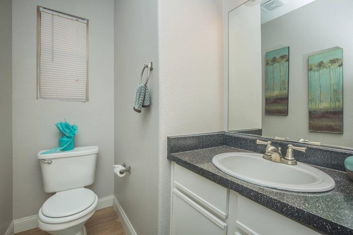 Modern Bathroom at Siena Townhomes in Las Vegas, Nevada