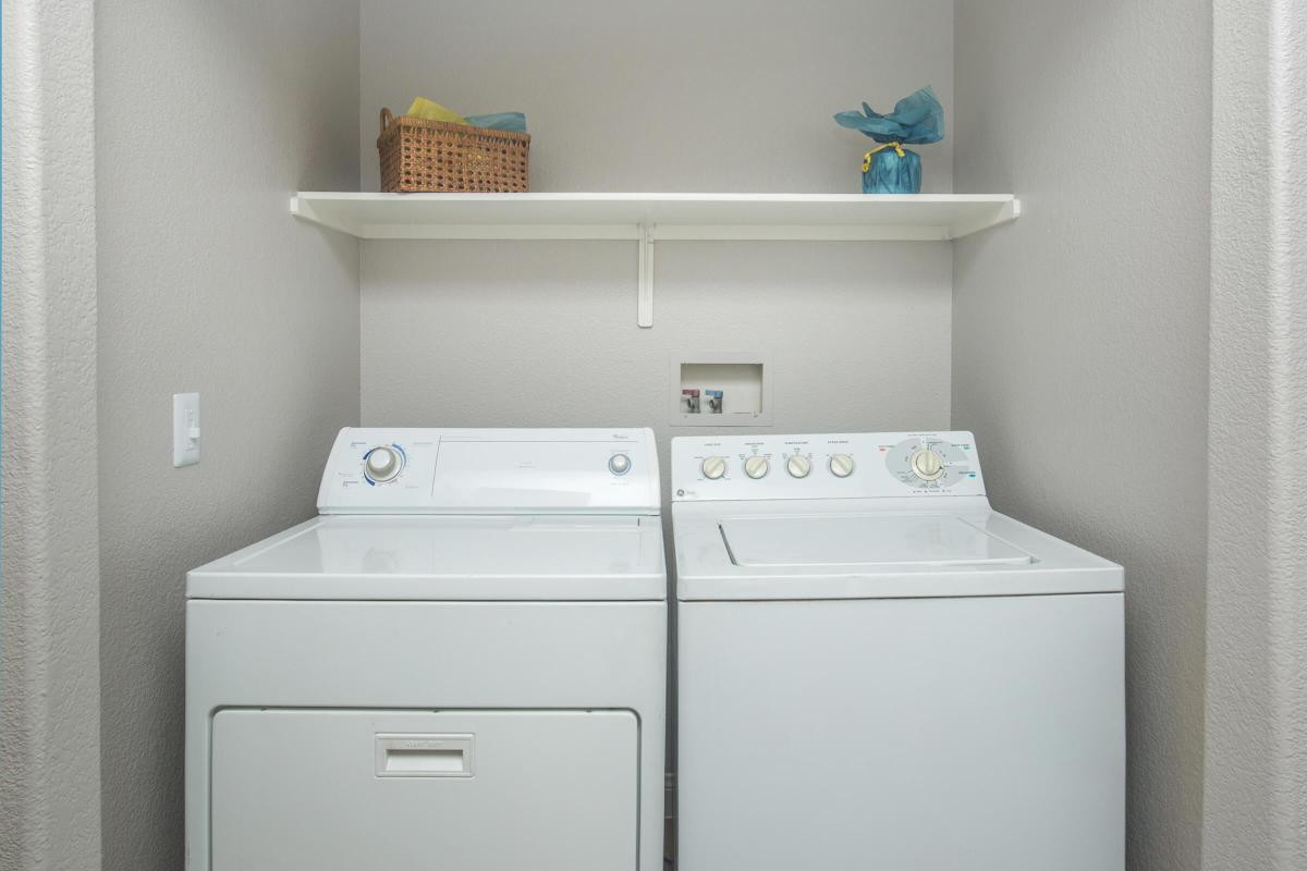 Washer and Dryer connections here at Siena Townhomes, Las Vegas