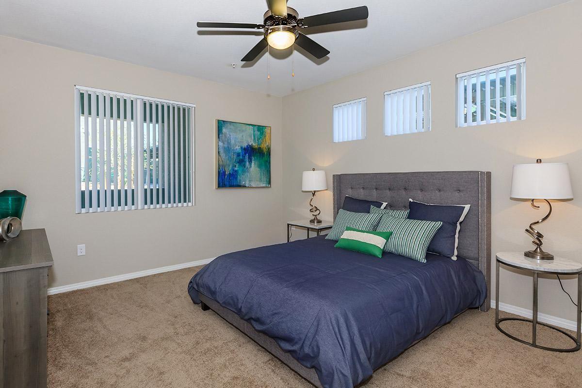 Bedroom with Plush Carpeting at Level 25 at Durango in Las Vegas, NV
