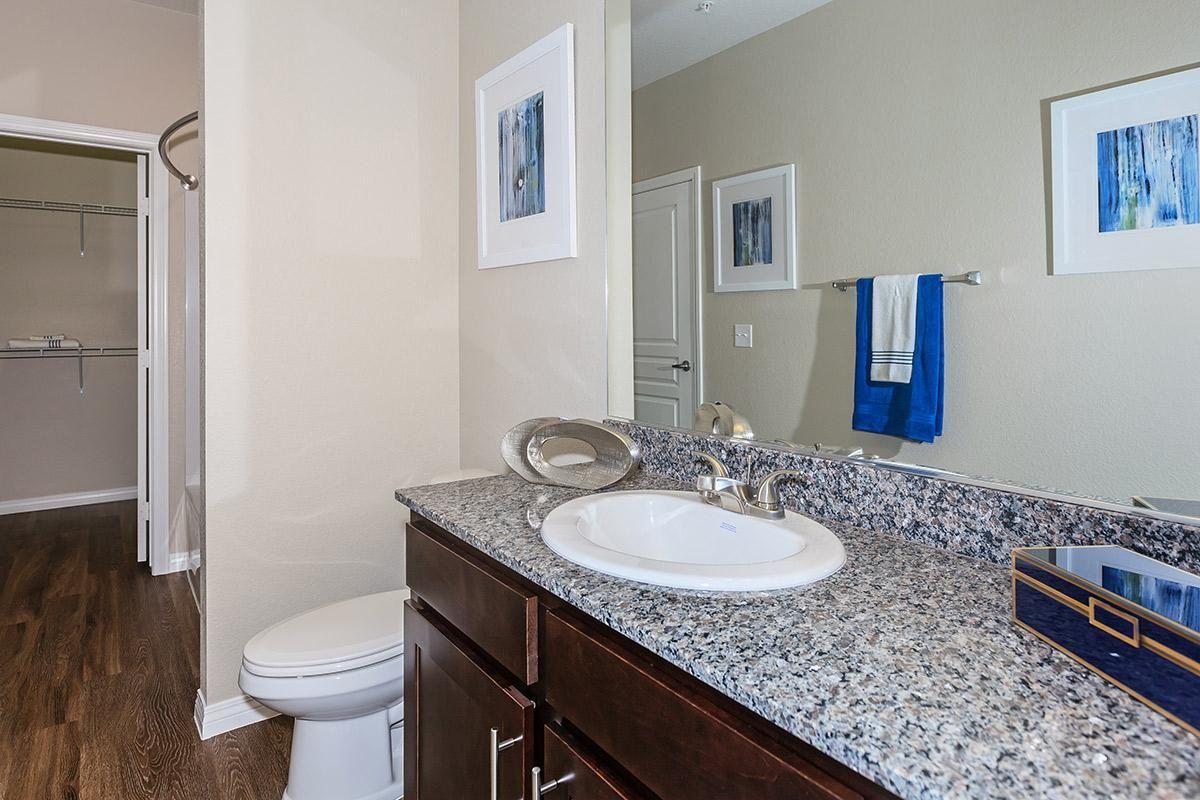 Sleek Bathroom Layout at Level 25 at Durango in Las Vegas, NV