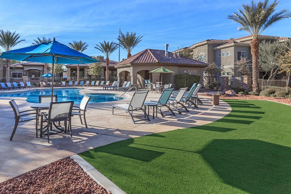 Beautiful Pool at The Covington at Coronado Ranch Apartments