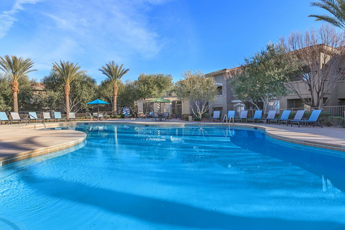 Shimmering Swimming Pool at The Covington at Coronado Ranch Apartments in Las Vegas