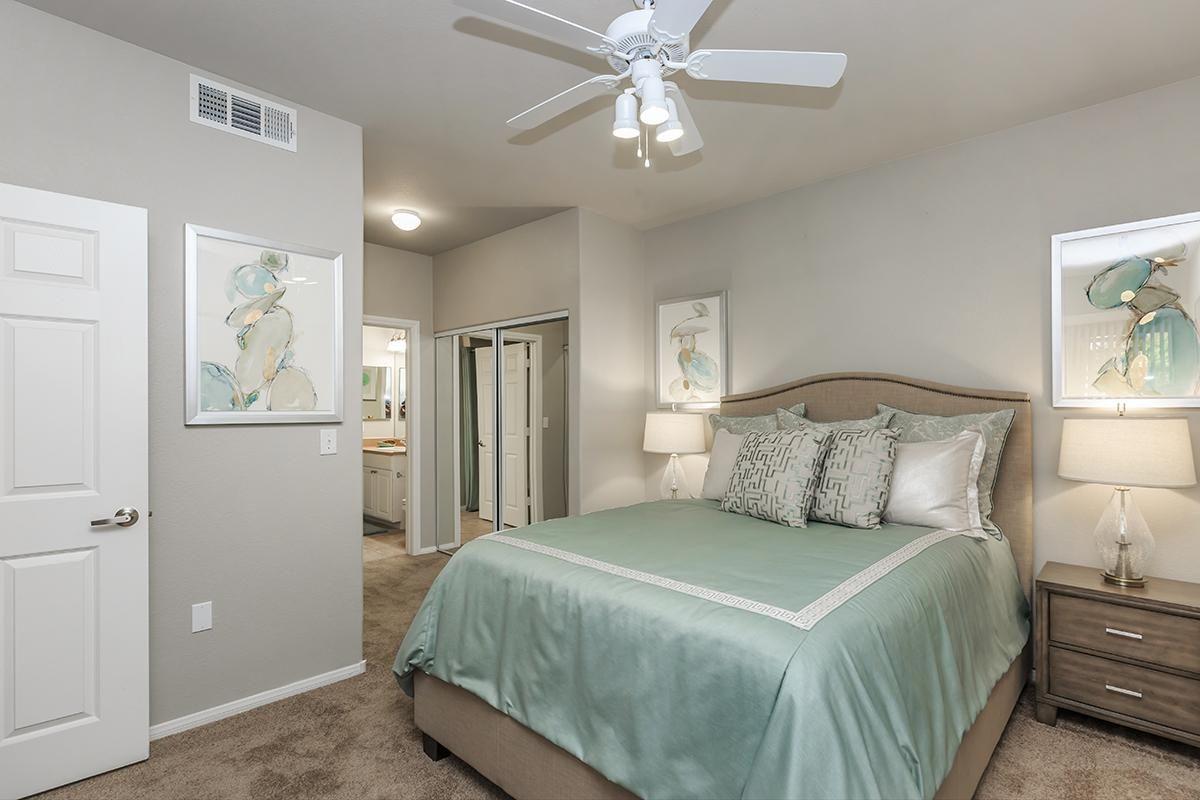 Comfortable Bedrooms in Homes at The Covington at Coronado Ranch Apartments in Las Vegas, Nevada