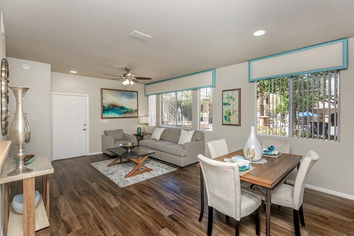 Handsome Hardwood Floors in Homes at The Covington at Coronado Ranch Apartments in Las Vegas, Nevada