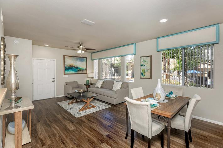 Handsome Hardwood Floors in Homes at The Covington at Coronado Ranch Apartments in Las Vegas, Nevada