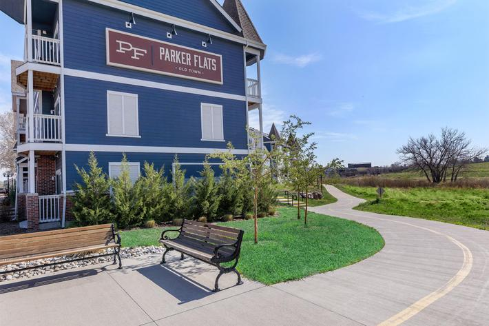 Landscaping at Parker Flats at Old Town in Parker, CO