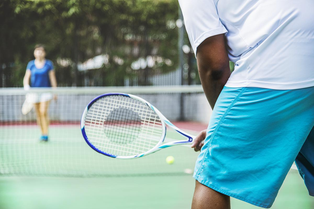 2 Lighted Tennis Courts at Brendon Park Apartment Homes