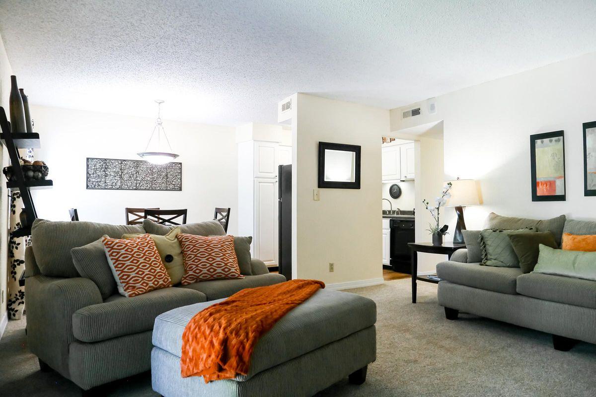 Cozy Living Room at Brendon Park Apartments