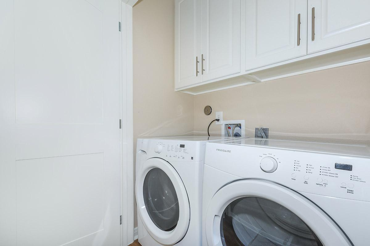 a washer in a room