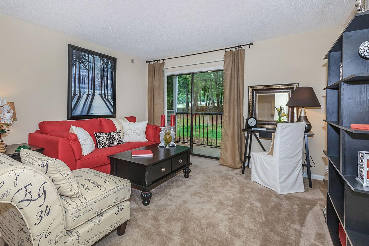 YOUR NEW LIVING ROOM AT LAKE BRANDT APARTMENTS