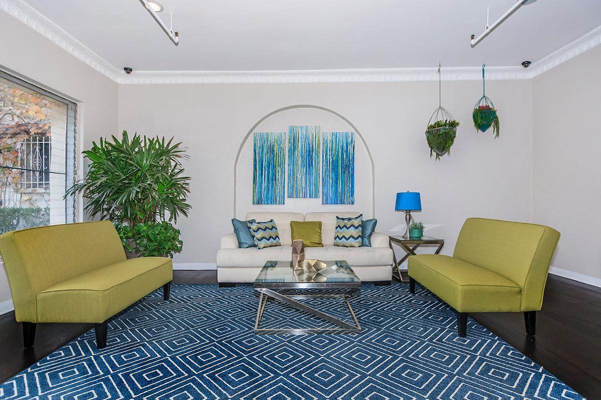 Relax in our renovated lobby at Ancelle in Los Angeles, CA