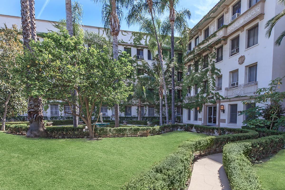 Take a stroll through the courtyard at Ancelle