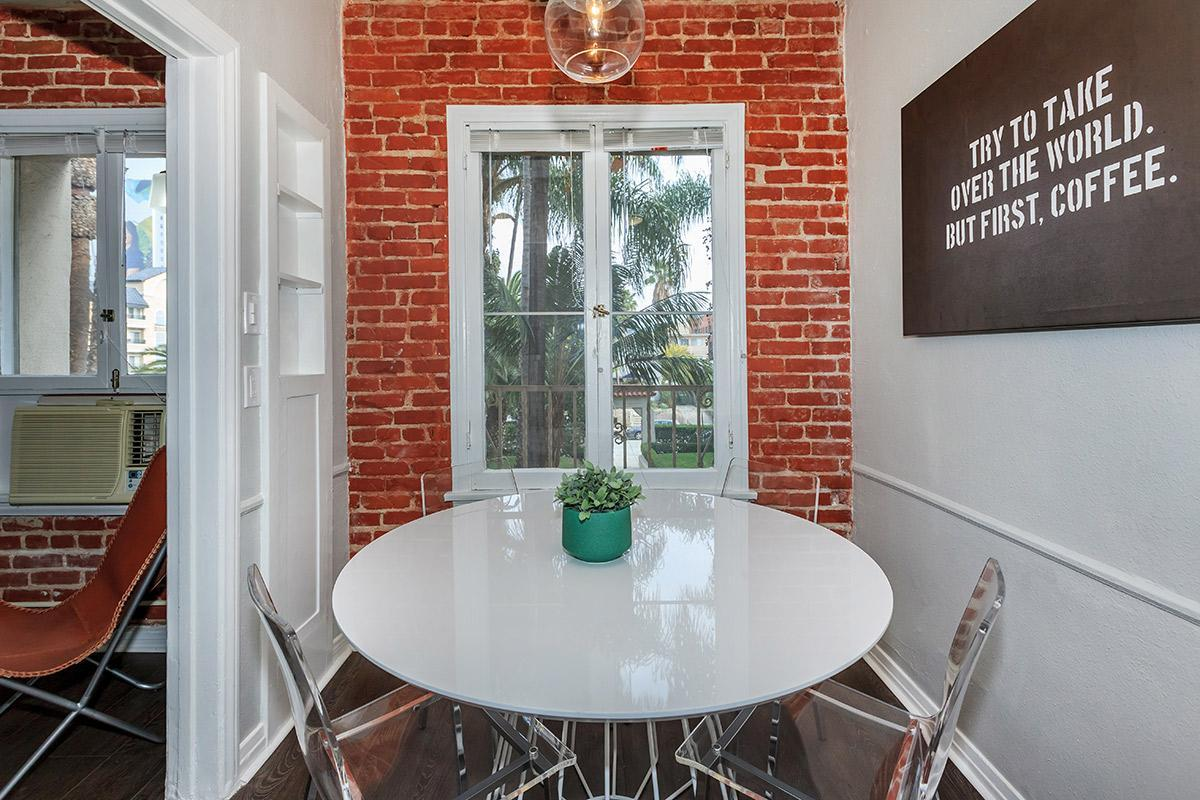 Dining area at Ancelle