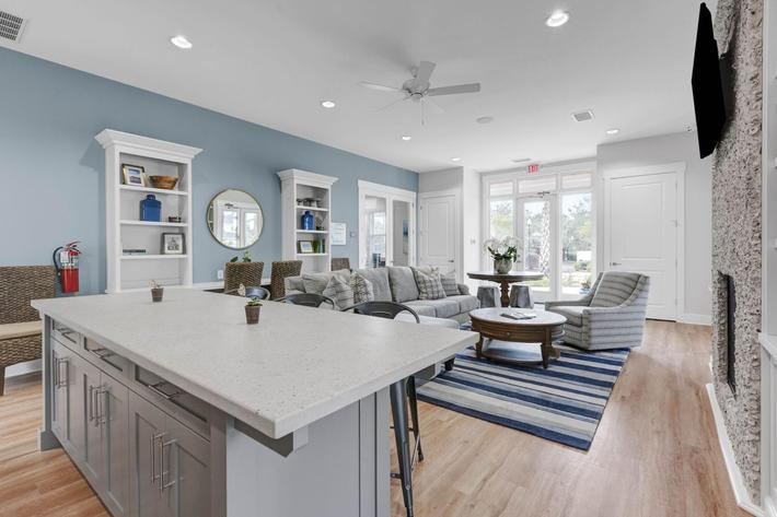 Contemporary living at The Townhomes at Beau Rivage in Wilmington, North Carolina.