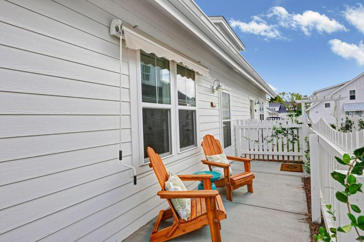 Fenced patios at The Townhomes at Beau Rivage in Wilmington, North Carolina.