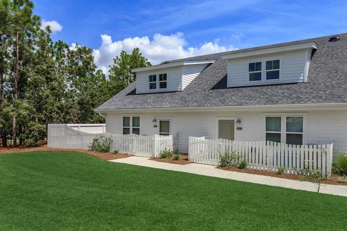 Personal yard for select homes at The Townhomes at Beau Rivage in Wilmington, NC.