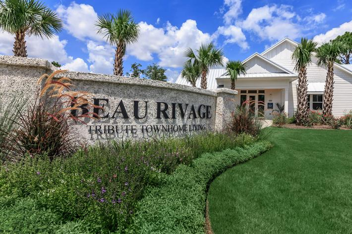 The entrance to your new home at The Townhomes at Beau Rivage in Wilmington, North Carolina.