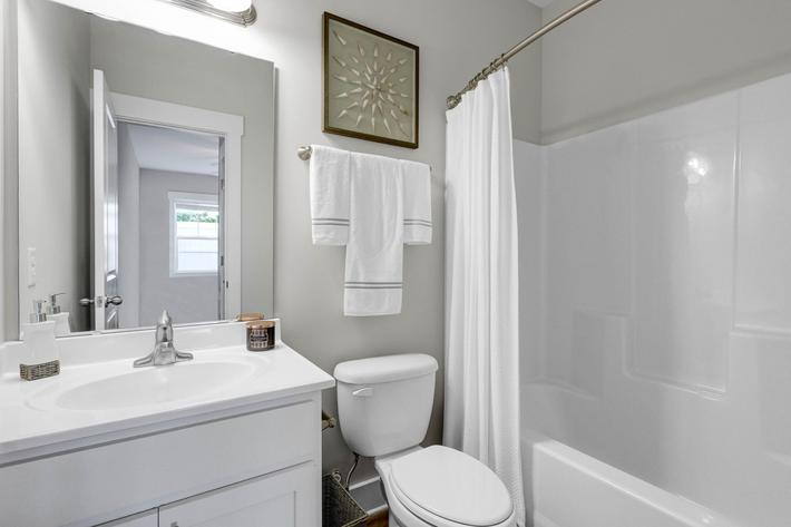Modern bathrooms at The Townhomes at Beau Rivage in Wilmington, NC.