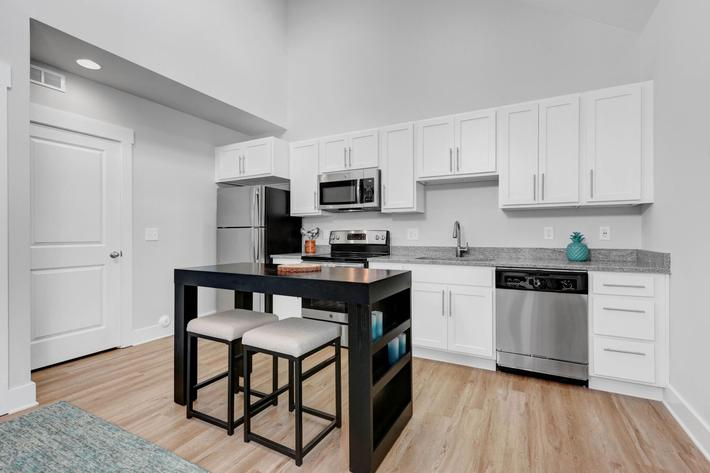 Your new kitchen at The Townhomes at Beau Rivage in Wilmington, North Carolina.