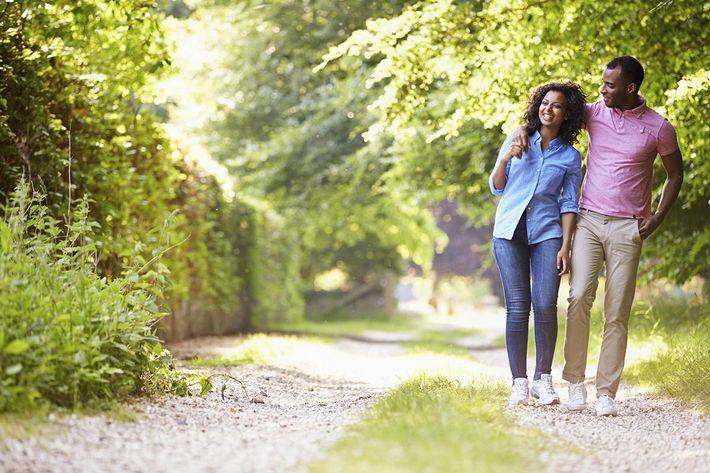 Lifestyle Photo of couple walking
