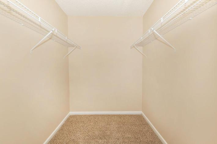 Spacious Walk-in Closet at Sunrise Apartments in Nashville, Tennessee