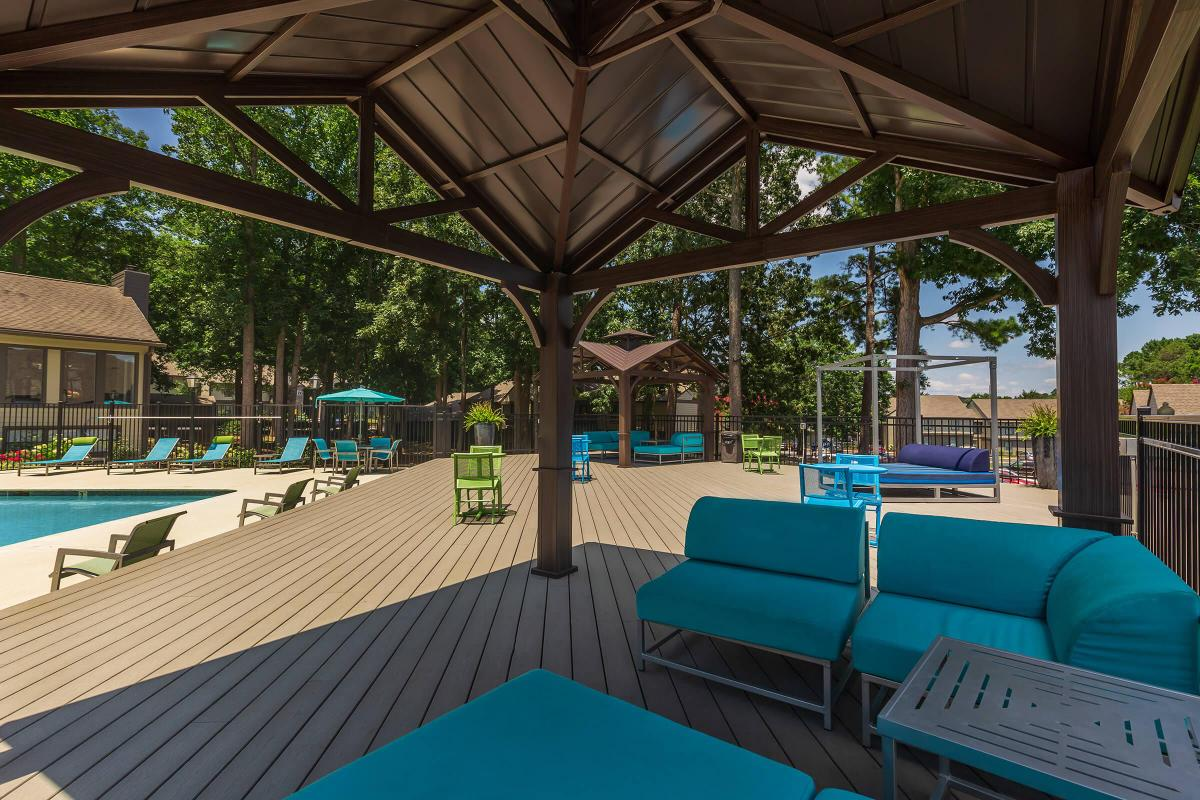 Kick Back and Relax Pool Side at Madison Landing at Research Park Apartments in Madison, AL