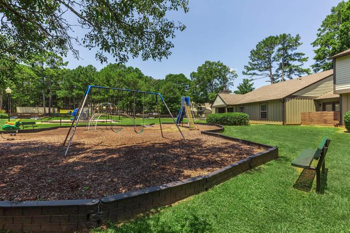 Play Area Here at Madison Landing at Research Park Apartments in Madison, AL