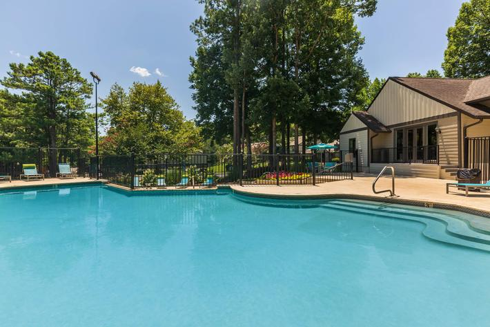 Shimmering Swimming Pool at Madison Landing at Research Park Apartments in Madison, AL