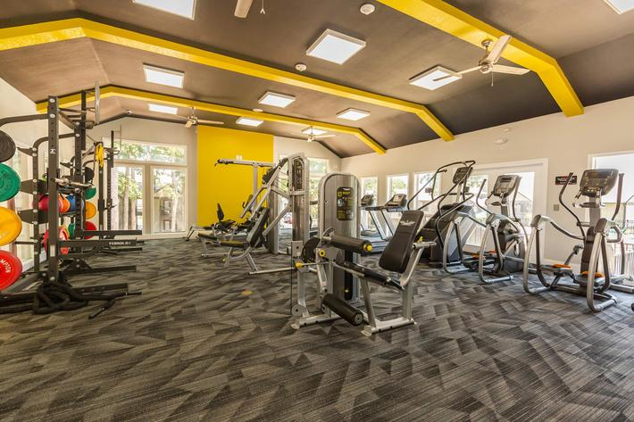 State-of-the-art Fitness Center at Madison Landing at Research Park Apartments in Madison, AL