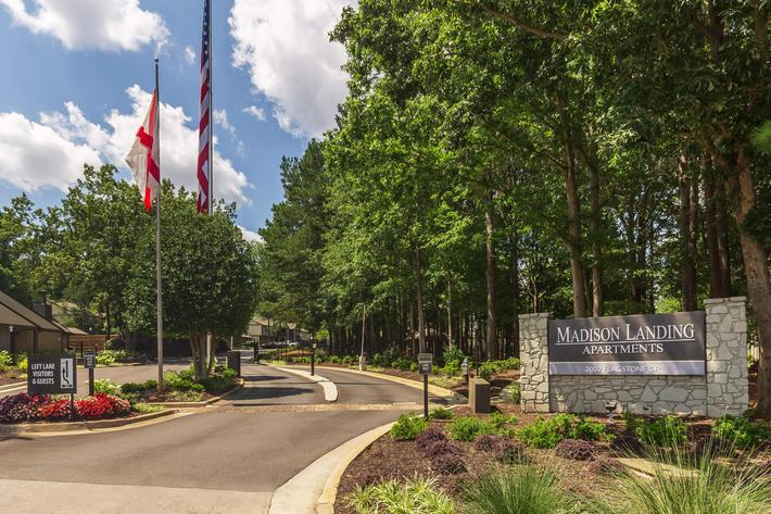 Welcome Home Here at Madison Landing at Research Park Apartments in Madison, AL