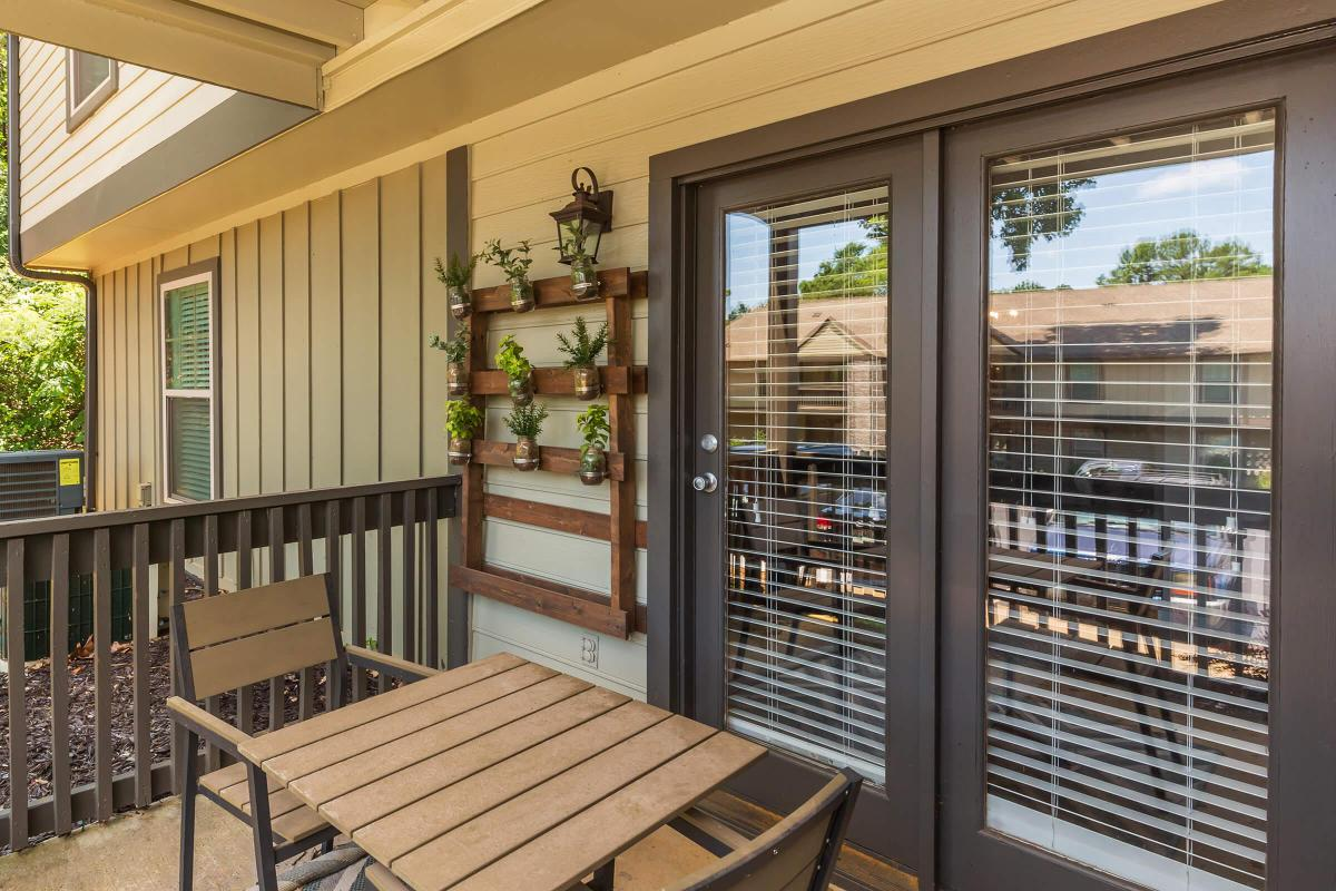 Enjoy the View from the Patio at Madison Landing at Research Park Apartments in Madison, AL