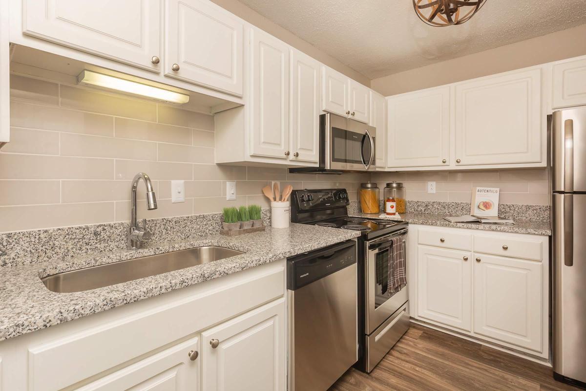 Gourmet Kitchen at Madison Landing at Research Park Apartments in Madison, Alabama
