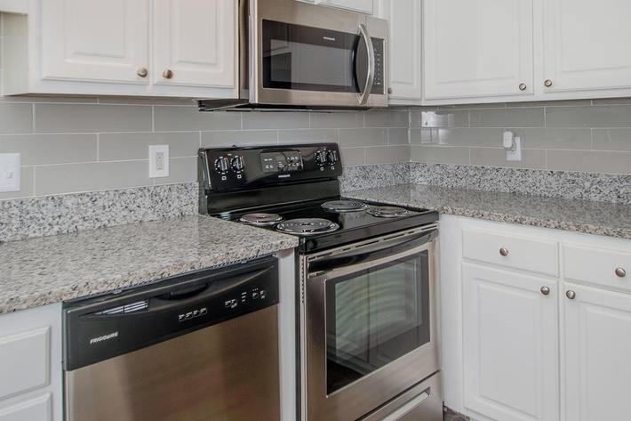 All-Electric Kitchen at Madison Landing at Research Park Apartments in Madison, AL