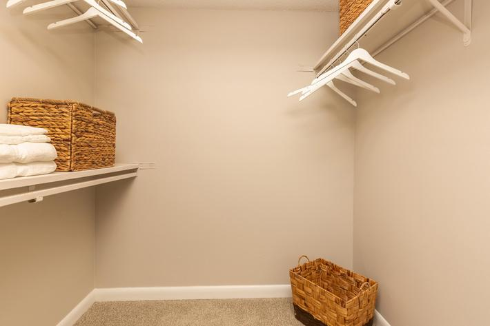 Carrington Walk-In Closet at Madison Landing at Research Park Apartments in Madison, AL