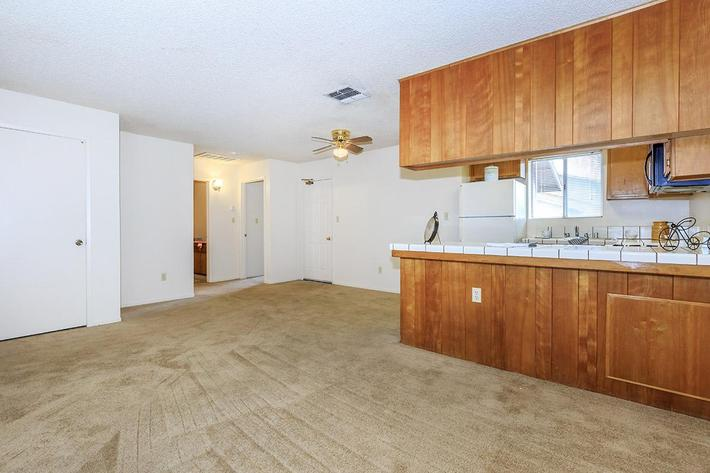 Camelot Square apartment homes have breakfast bars