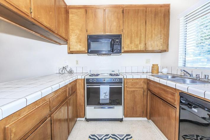 Gas ranges are in all Camelot Square kitchens