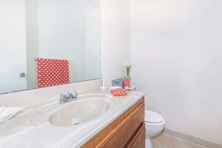 Our bathrooms are very spacious at Camelot Square