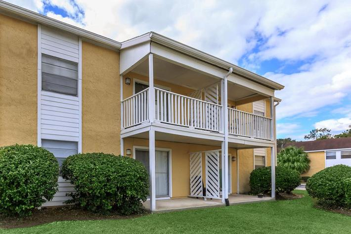 Enjoy your balcony or patio at Cross Creek Apartments in Jacksonville, Florida