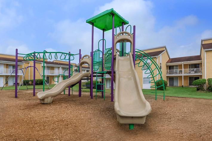 Play area here at Cross Creek Apartments in Jacksonville, Florida