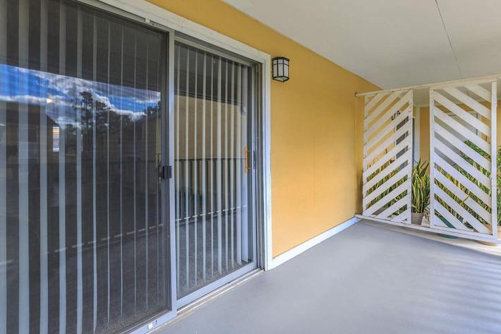 Enjoy your balcony or patio here at Cross Creek Apartments in Jacksonville, Florida