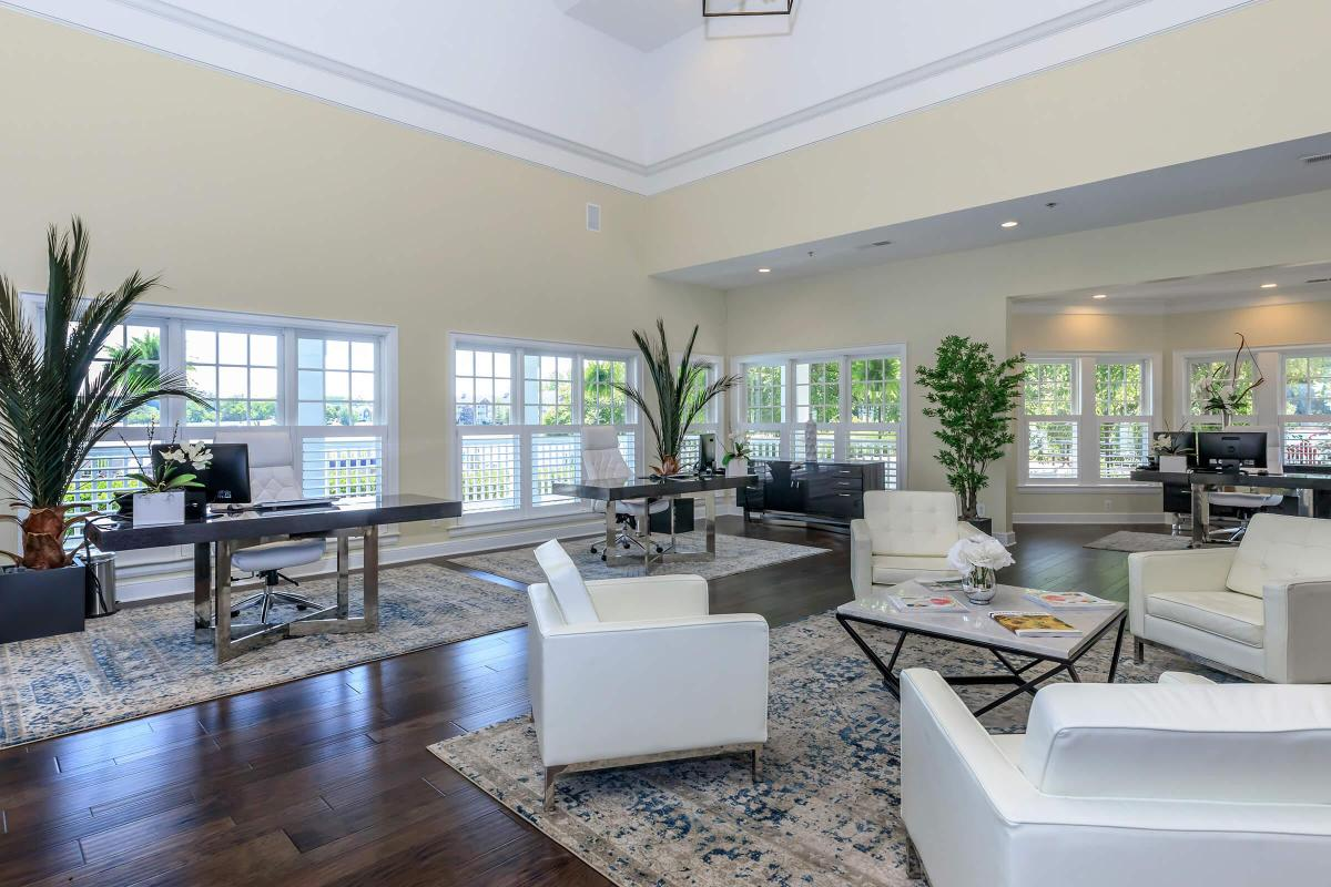 ELEGANT CLUBHOUSE AT THE QUARRY LUXURY APARTMENTS