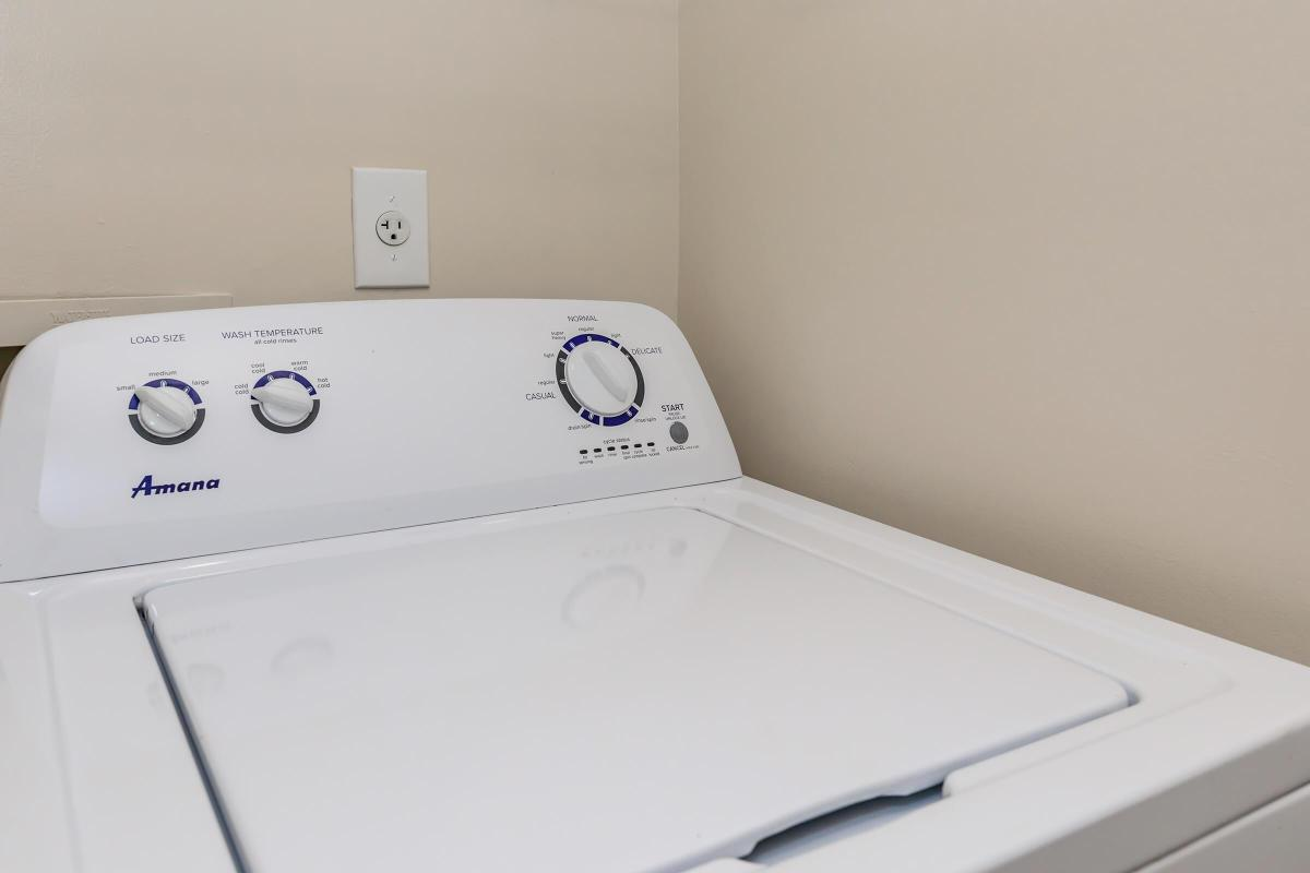 WASHER AND DRYER IN SELECT HOMES